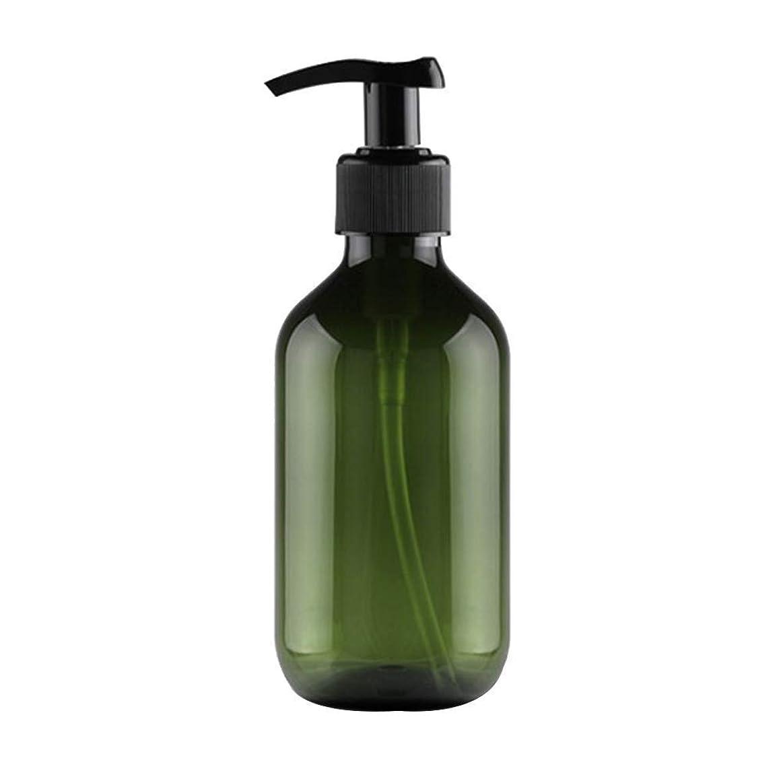 鑑定化学見習い1st market 大人気 小分けボトル ポンプボトル 押し式詰替用ボトル 携帯用 旅行 出張用 シャンプー 乳液など入り トラベルボトル 300ml ダークグリーン 高品質