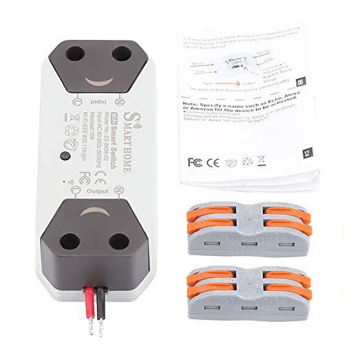 Smart WiFi Interruptor de luz Interruptor remoto Control remoto El temporizador de salida de automatización funciona con Alexa.