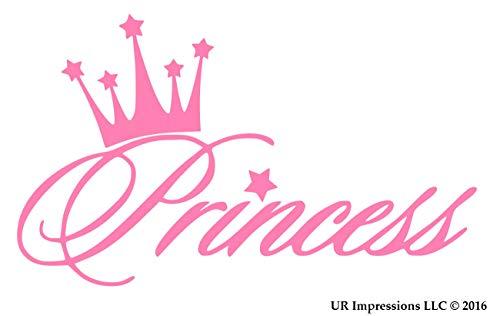 UR Impressions Pnk Princess Crown Decal Vinyl Sticker Graphics for Cars Trucks SUV Vans Walls Windows Laptop Pink 56 X 36 Inch URI281
