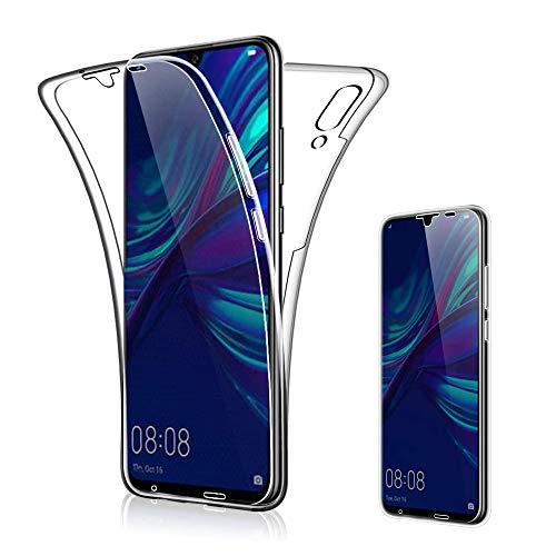 Suhctup Funda Transparente Compatible con Huawei Mate 20 Pro,360 Grados Protección Carcasa Transparente TPU Silicona Doble Cara Full Body Crystal Cover Anti-Arañazos Resistente Case,Transparente
