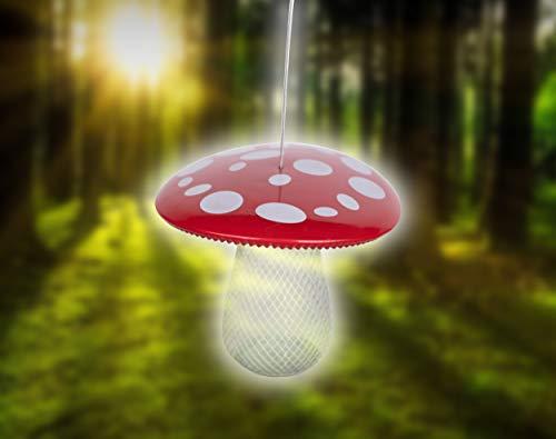 Orailys Schönes Vogelhaus zum Aufhängen in Pilz Form | ideal für Garten und Balkon | Futterstation für Vögel im Sommer und Winter