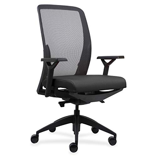 Lorell USA Seating Adorn Chair, 47' x 26.5' x 25', Black