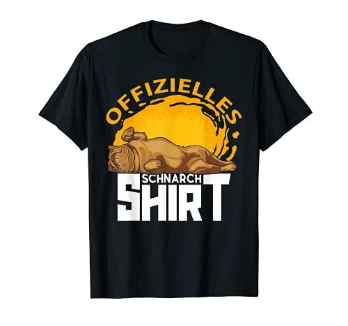 Schlafanzug englische Bulldogge offizielles Schnarchshirt T-Shirt