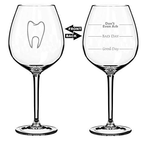 Funny Dentists Wine Glass