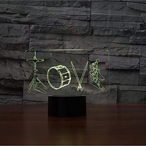 3D Optische Illusion LED Nachtlicht USB nightlampe Rock Musikinstrumente