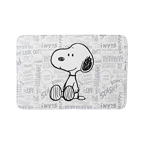 Badvorleger Pea Nüsse Sn_oo_py auf schwarz-weiß Comics Badematte Türvorleger Küchenteppich rutschfeste Duschmatte WC-Bodenmatte Bodenmatten
