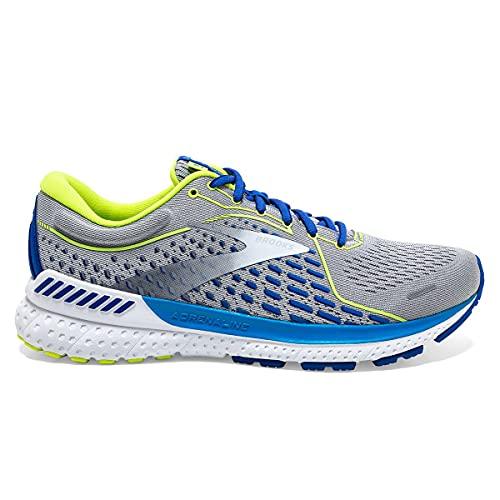 Brooks Men's Adrenaline GTS 21 Running Shoe - Grey/White/Indigo - 11.5