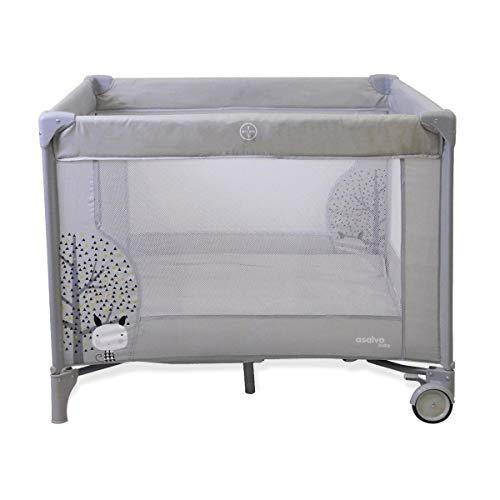 Parc pliant Baby Fox collection 'nordique' 100x100 cm - gris