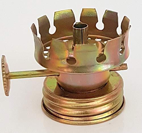Oberstdorfer Glashütte Ersatz Brenner für Öllampen Petroleumlampen für Runddochte Durchmesser 3 mm Gewindering Gewinde Innen und Außen Höhe 30 mm Gewinde Innen Ø 28 mm