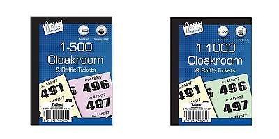 500 1000 Garderobe Draw Raffle Tambola Genummerde Tickets Boek Fates School Office Kleur
