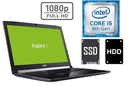 Portátil Aspire A517 – Intel Core i5 – 8 GB DDR4-RAM – 128 GB SSD + 1 TB HDD – Windows 10 Pro – 44 cm (17,3 Pulgadas) Full HD Pantalla Mate – 2 GB NVIDIA MX150 20GB - 1000GB SSD + 1TB