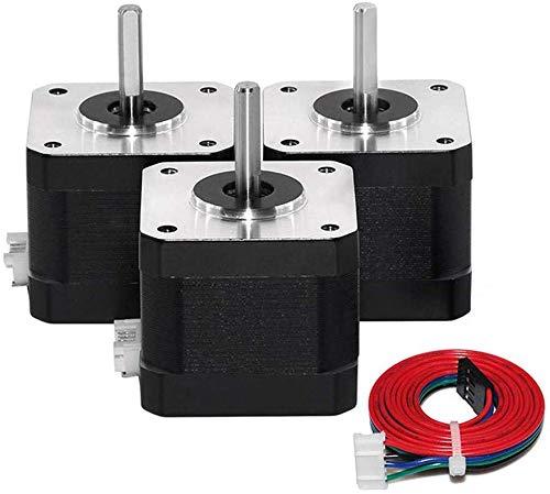 Drohneks 42 Moteur Pas à Pas, Moteurs pour imprimante 3D, Nema 17 Moteur Pas à Pas pour imprimante 3D DIY Robot CNC (3PCS)