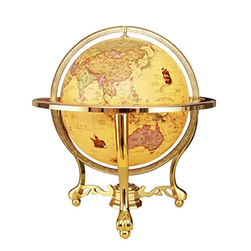 XIANGE100-SHOP World Globe Retro HD Chinese and English World Globe Home Office LED Table Lamp Living Room Creative Globe Model (Color : A Light, Size : M)