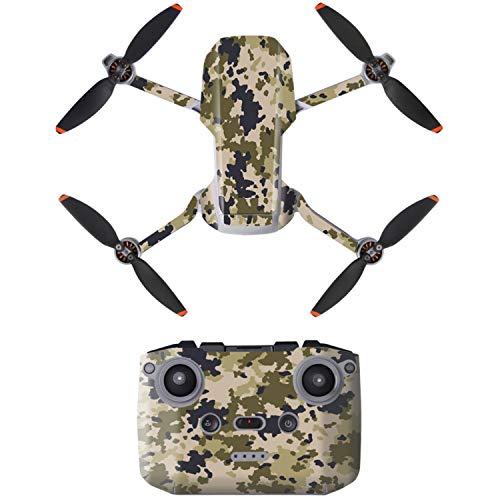 Face Lift für Drohne DJI MAVIC MINI 2, Desert Camo Design, Komplett-Sticker Set für Drohne und Controller, Spezial 3M Kleber, Tarnung Skin Sticker Kit, Skin Wrap for Mini 2, Verzierung, Gesicht Drohne