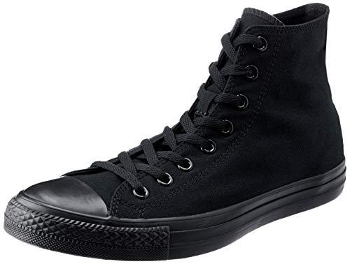 Converse Unisex Chuck Taylor All Star High Top Shoes, Black Monochrome, 9 B(M) US Women / 7 D(M) US Men