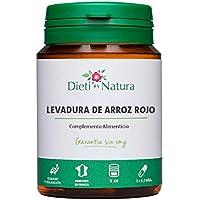 Levadura de arroz rojo 200 cápsulas de Dieti Natura [Ayuda contra el colesterol][Fabricado en Francia][Garantía sin OGM]