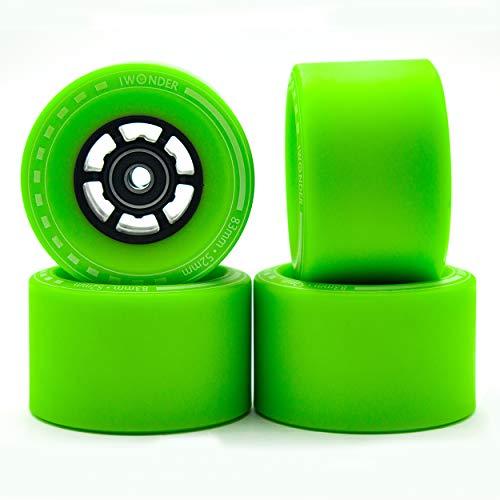 IWONDER Electric Skateboard Wheels 83mm 85A Urethane Compound Longboard Wheels with ABEC 7 Bearings