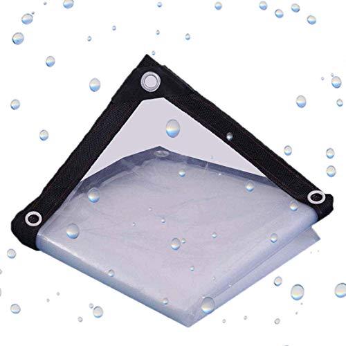 XIGG Lona Impermeable Planta Transparente Invernadero A Prueba De Lluvia Resistencia Al Desgarro Plegable Ojal De Metal De Plástico, 24 Tamaños 120 G/M²,0.12 Mm,1mX1m/3.3x3.3ft