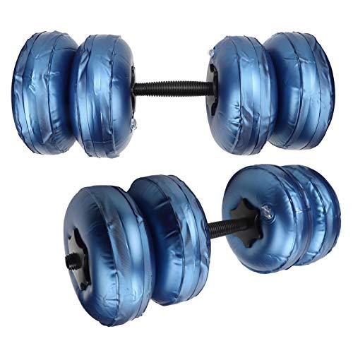 KUIDAMOS Nueva generación de Mancuernas de Agua PPC Fitness Resistentes al Desgaste llenas de Agua, para Acampar y al Aire Libre, para Fitness en el Ocio de la Oficina(16-20KG Blue)
