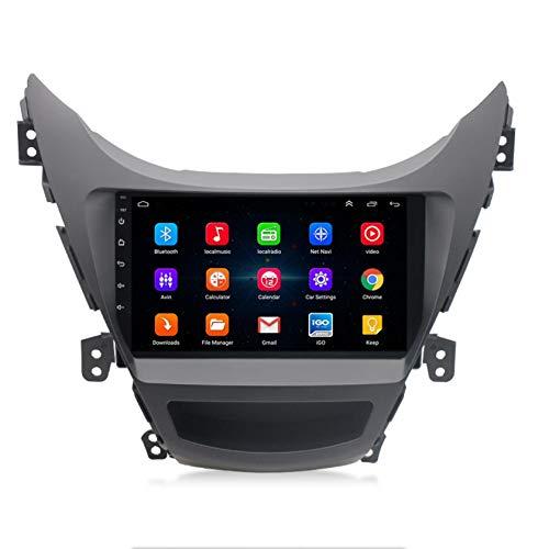 WWJL Se Aplica a Todo-en-uno Lector de Acceso 11-14 Hyundai Elantra Android Sistema de navegación GPS de navegación de 9 Pulgadas del Coche del Espejo de Bluetooth Imagen