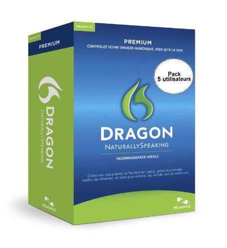 Dragon NaturallySpeaking 11 Premium, French Edition, 5 User (PC)
