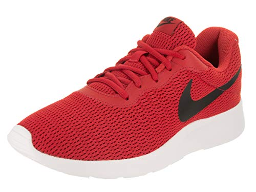 Nike Men's Tanjun University Red/Black Running Shoe to wear with jeans