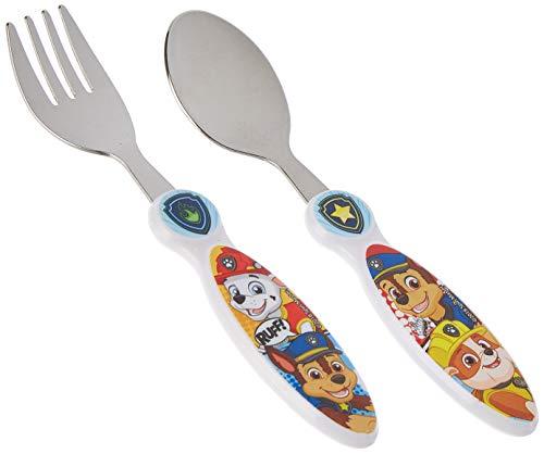 Kinderbesteck Besteck, kompatibel zu Paw Patrol Gabel und Löffel Edelstahl | Kinder | Geschenk | Mädchen | Essen |