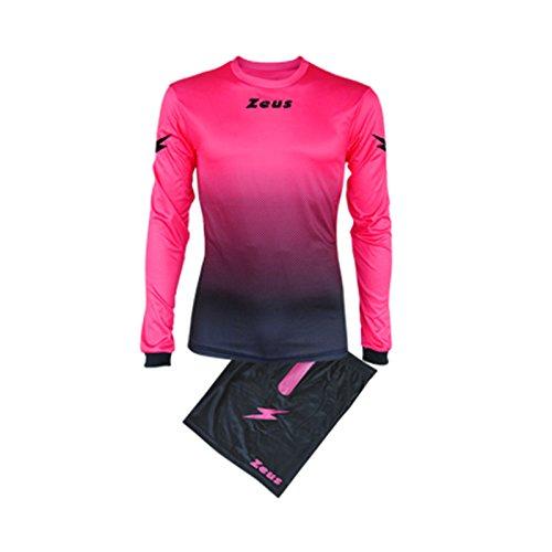 Zeus Kit Eros Homme Equipment Football à cinq Maillot Short Pour Football Noir Fuchsia (XS)
