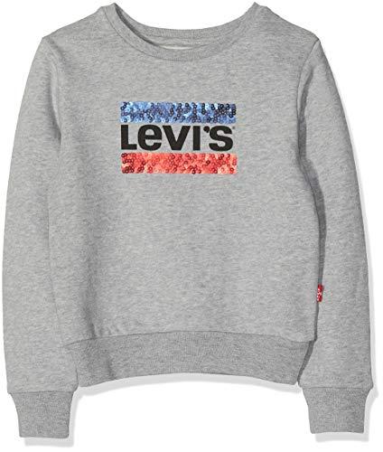 Levi's Kids Levi's Kids Mädchen Sweat Shirt NM15567 Sweatshirt, Grau (Light China Grey 22), 8 Jahre (Herstellergröße: 8A)