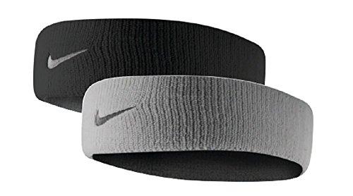 Nike Dri-Fit Home & Away Headband (One Size Fits Most, Black/Base Grey)