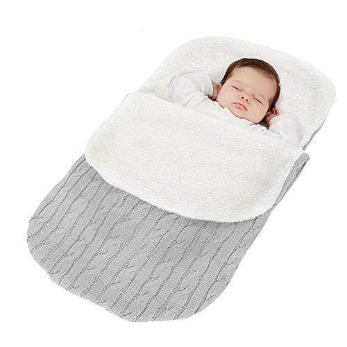 Tukistore Recién Nacido Bebé Tejido de Punto Envoltura Manta Saco de