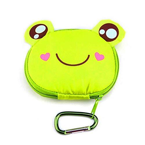 Bolsos de Compras ecológicos y cómicos, de Cute Animal Comic Bag - Bolso de Compras Bolsa Reutilizable, Bolsas de Viaje (Papelera de Reciclaje, Gancho de Rana)
