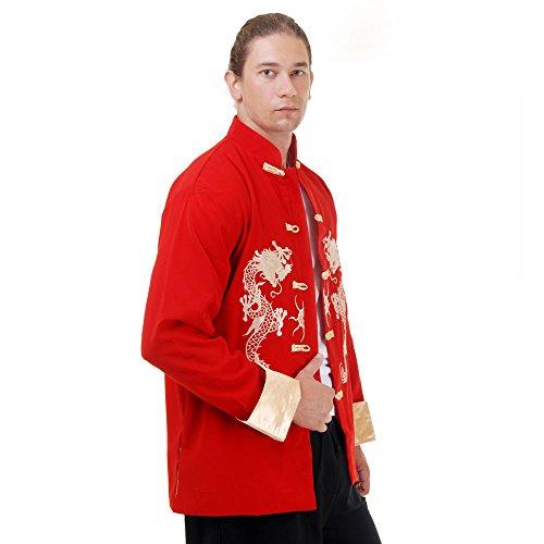 Princess of Asia Kung Fu, Tai Chi & Meditations Jacke Baumwolle Größe XL Rot
