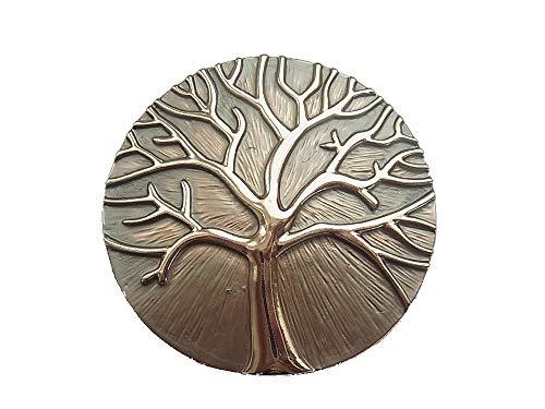 Broche magnético para bufandas, ponchos, bolsos, joyas, árbol de la vida, marrón claro