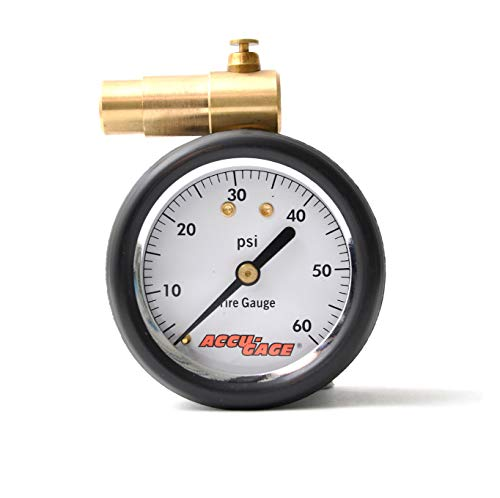 Meiser Presta-Valve Dial Gauge with Pressure Relief: 60psi