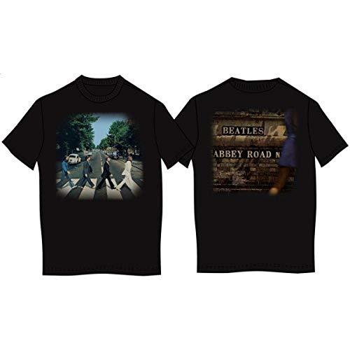 Preisvergleich Produktbild The Beatles Abbey Road Men's Short Sleeve Shirt Gr. Large,  Schwarz - Schwarz