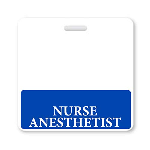 Nurse Anesthetist Badge Buddy - - Heavy Duty Horizontal Badge Buddies for Anesthesia Nurses - Spill & Tear Proof Cards - 2 Sided USA Printed Quick Role Identifier ID Tag Backer by Specialist ID