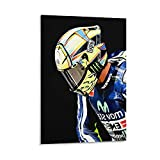 DJNGN Valentinol Rossi MotoGP Canvas Art Poster y Wall Art Picture Print Modern Family Dormitorio Decoración Posters 08 & times; 12 pulgadas (20 & times; 30cm)