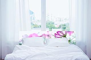 Cabecero Cama PVC Flores | Varias Medidas 115x60cm | Fácil colocación | Decoración Habitación | Motivos paisajisticos | Naturaleza | Urbes | Multicolor | Diseño Profesional