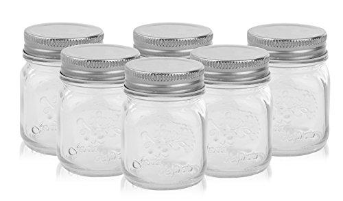 4 oz Mason Jars with Lids (Set of 6)