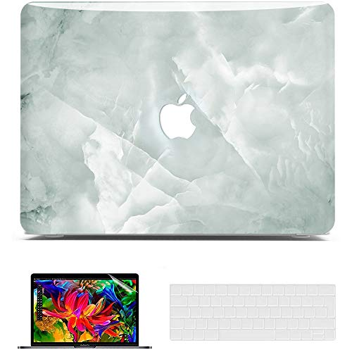 Belk MacBook Pro 13 inch Case 2020 2019 2018 2017 Release,3D Smooth Scratch Resistant Hard Shell Cover + Keyboard Cover + Screen Protector, MacBook Pro 2020 Case, Marble