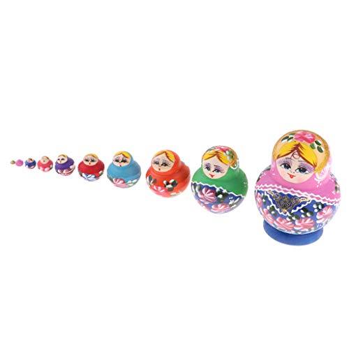 Fenteer 10 Pezzi Bambole in Legno Russo Matriosche Dipinte a Mano da Uccelli per Bambini - #4