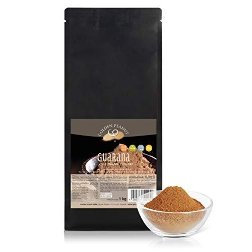 Premium reines Guarana Pulver 1 kg | ohne Zusätze | geprüfte Qualität | allergenfrei | glutenfrei | vegan | Golden Peanut