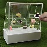 LjQQjDz Puppenhaus Miniatur Shop Display Bäckerei Kuchen Schrank Regale Modell Handwerk Dekor Für...