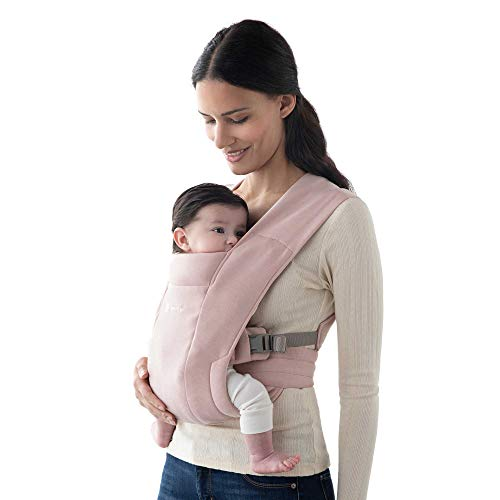 Ergobaby Embrace Cozy Newborn Baby Wrap Carrier (7-25 Pounds), Blush Pink