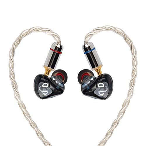 AIDERLOT M5 HiFi in Ear Monitors Kopfhörer mit DREI Paar Klangfilter,Fünf Balanced Treiber für Sängers&Schlagzeugers,IEMs Kopfhörer für Audiophiles Musicians,Zwei Abnehmbar MMCX Kable(Schwarz)