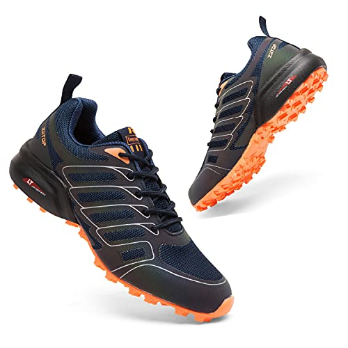 Mens Trail Running Shoes Trainers Shoes Breathable Hiking Trekking Arch...