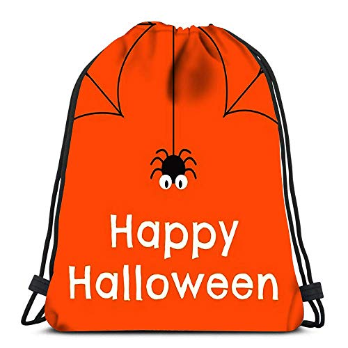 N / A Kordelzug Rucksack Taschen Halloween für Banner Xa Poster Flyer Sport Sporttasche 36 x 43 cm / 14,2 x 16,9 Zoll
