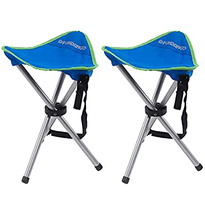 FUNDANGO 2-Pack Lightweight Portable Compact Folding Camping Tripod Stool for Outdoor Sports Backpacking Hiking Travel
