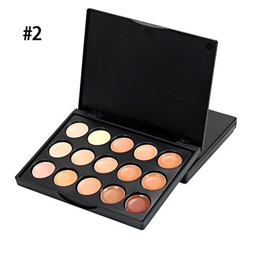 15 Couleur Concealer Palette Professionnel Concealer Maquillage Cosmétiques Ensemble pour Spots Acnes Cicatrices Oeil Cernes 15g